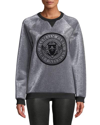Long-Sleeve Crewneck Logo Sweatshirt