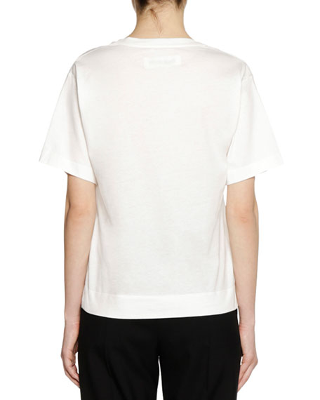 Frank Naven Collab Short-Sleeve Crewneck Cotton Knit T-Shirt