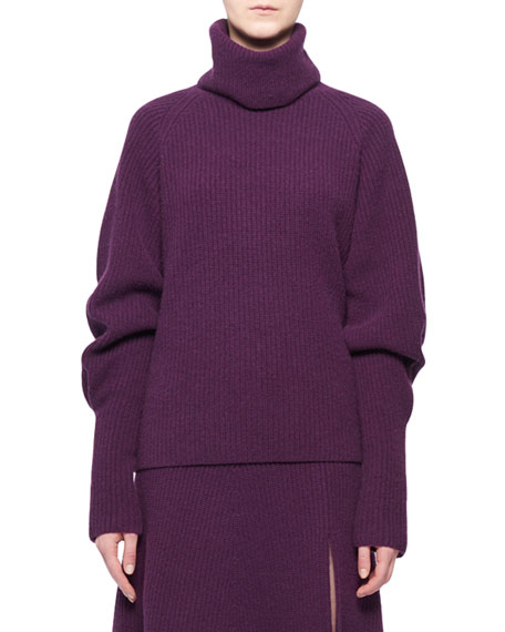 Turtleneck Long-Sleeve Cashmere Sweater