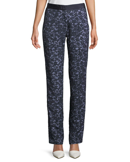 Lace Overlay Skinny Pants
