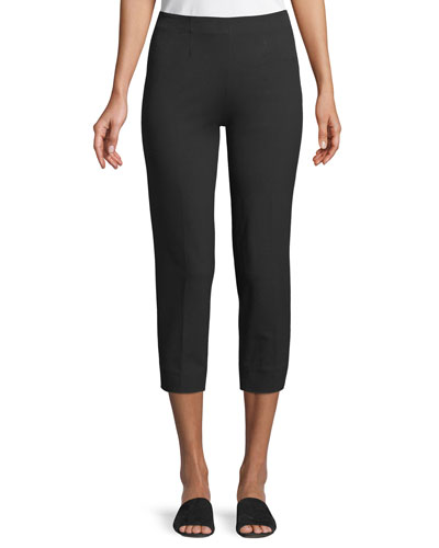 Audrey Straight-Leg Cropped Pants