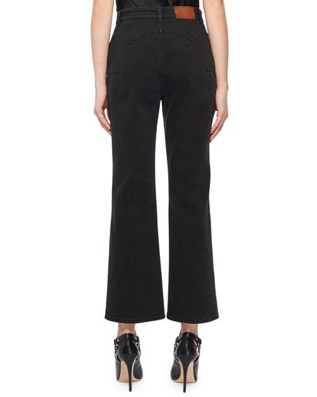 Dixon High-Waist Flare-Leg Crop Jeans