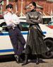 Nelina Belted Lambskin Leather Wrap Dress