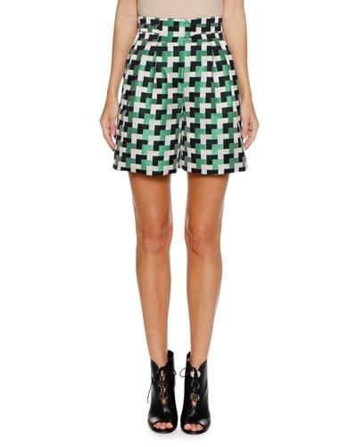 Check-Jacquard Shorts