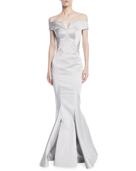 Off-the-Shoulder Mermaid Evening Gown