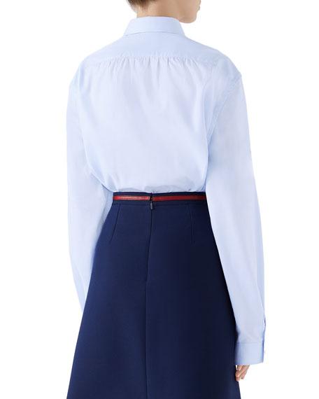 NY Yankees MLB Button-Front Long-Sleeve Cotton Shirt