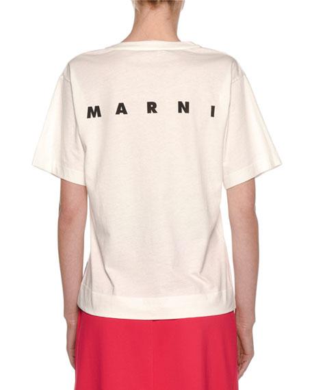 Cat-Face Print Cotton Jersey T-Shirt
