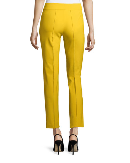 Hepburn Techno Ankle-Zip Pants