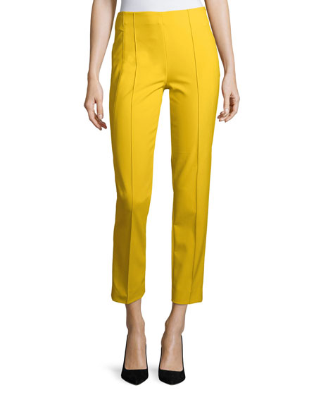 Escada Hepburn Techno Ankle-Zip Pants