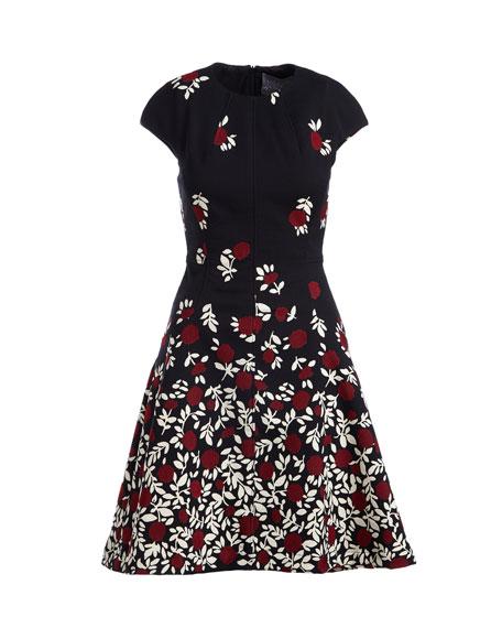 Cap-Sleeve Dress