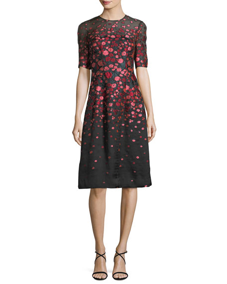 Holly Floral Fil Coupe Dress