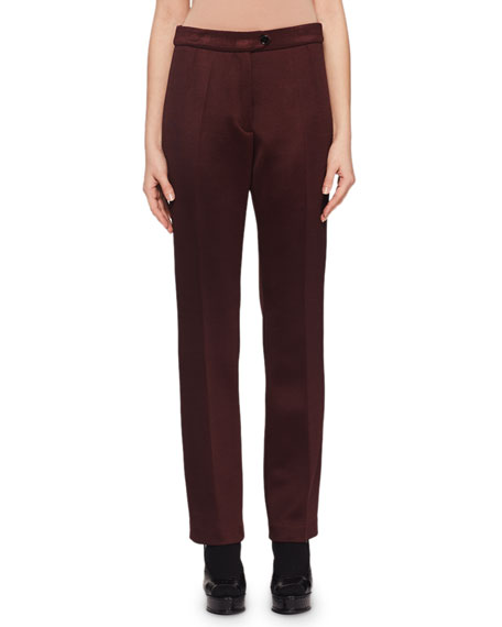 Flat-Front Straight-Leg Trouser