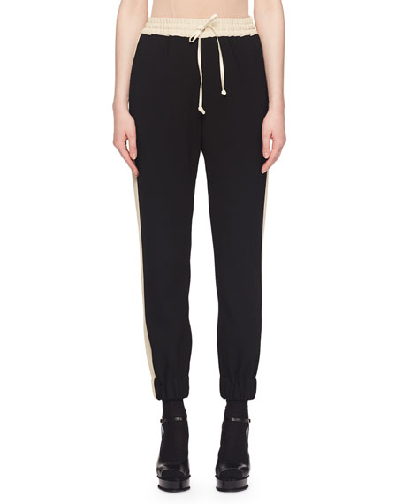 Pull-On Jogger Pants w/ Racer Side Stripe