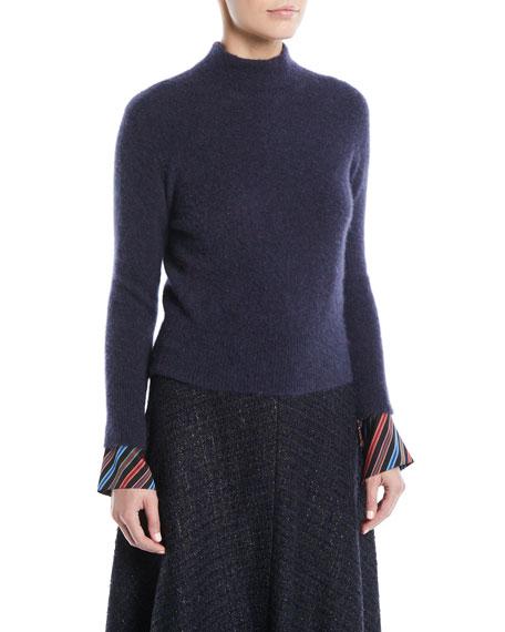 Escada Mock-Neck Cashmere-Blend Sweater
