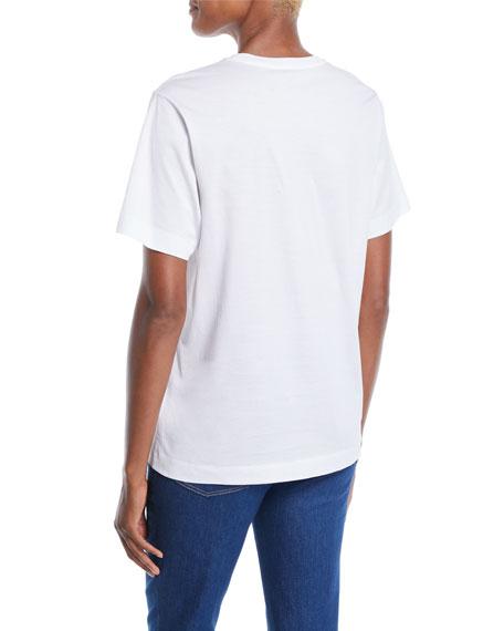 Crewneck Short-Sleeve Multicolor Logo-Print Tee