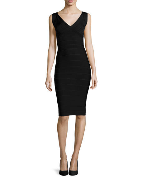Herve Leger Scoop-Back Bandage Dress
