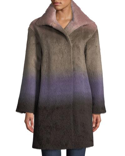 Ombre Alpaca Coat