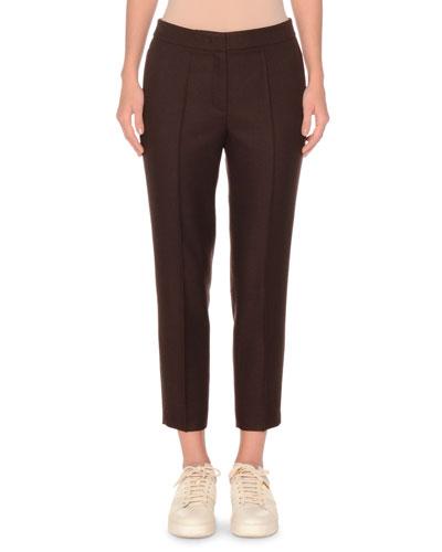Shetland Wool Slim Cropped Pant