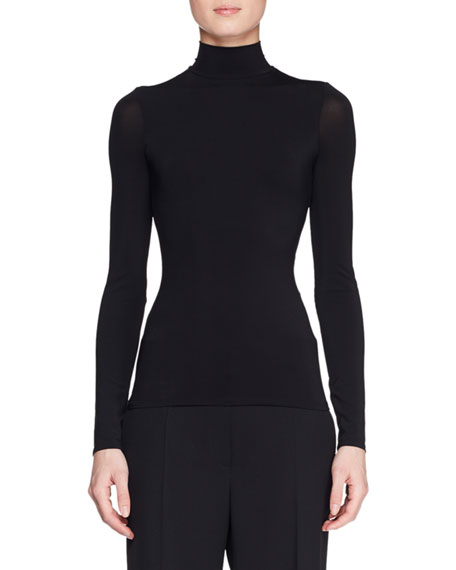 THE ROW Rudd Long-Sleeve Stretch-Jersey Turtleneck Top and