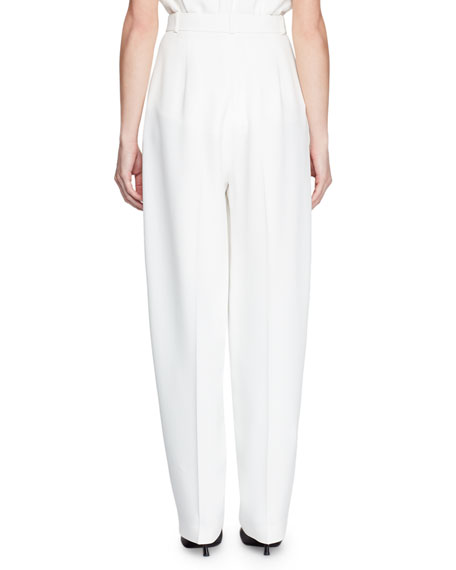 Pica High-Waist Tapered-Leg Pants