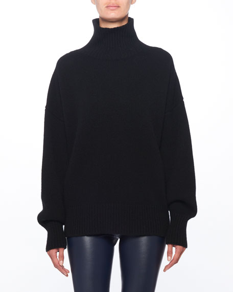 Pheliana Turtleneck Melange Knit Cashmere Pullover Sweater