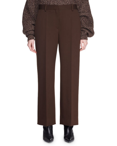 Ina Straight-Leg Wool Pants