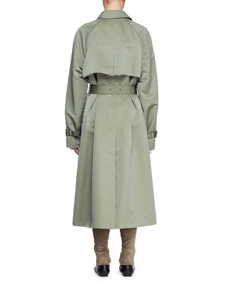 Naita Belted Nylon Long Coat