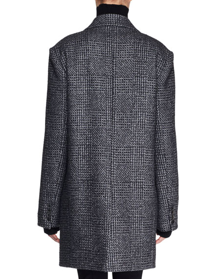 Mewey Wrap Fleece Wool-Blend Coat
