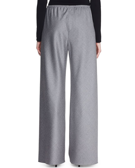 Gala Wool Wide-Leg Pants