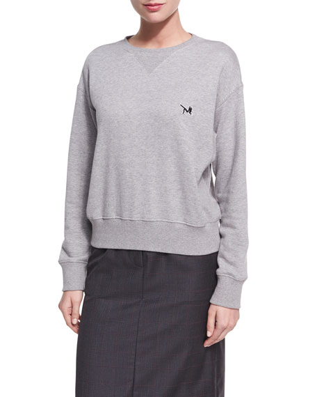 CALVIN KLEIN 205W39NYC Cotton Terry Crewneck Sweatshirt