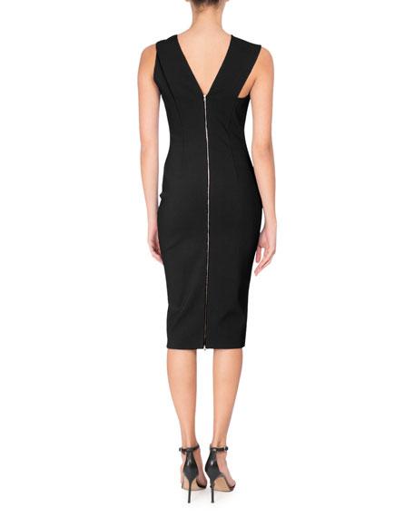 Knotted Sleeveless Sheath Dress