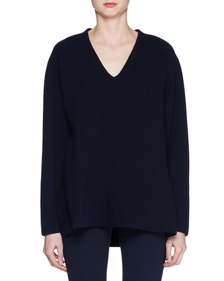 Bambi V-Neck Long-Sleeve Wool-Blend Top