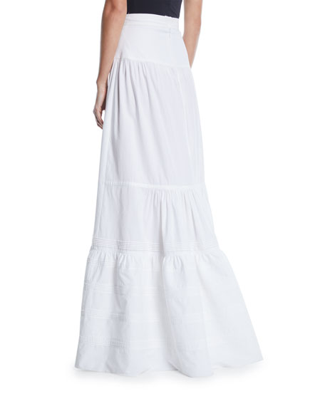 High-Waist Cotton Maxi Prairie Skirt