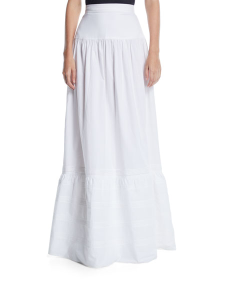 High-Waist Cotton Maxi Prairie Skirt