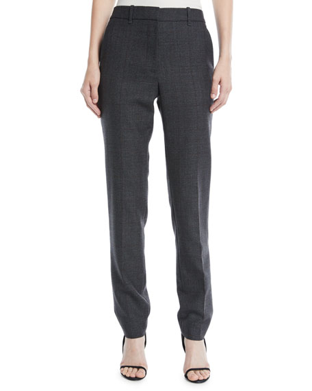 CALVIN KLEIN 205W39NYC Slim Straight-Leg Worsted Wool Check