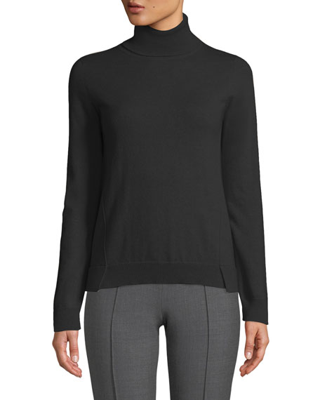 Eternals 12-GG Cashmere Geo-Slit Turtleneck Sweater