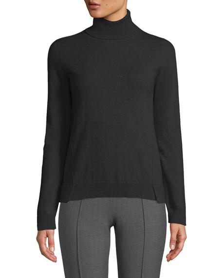 Agnona Eternals 12-GG Cashmere Geo-Slit Turtleneck Sweater