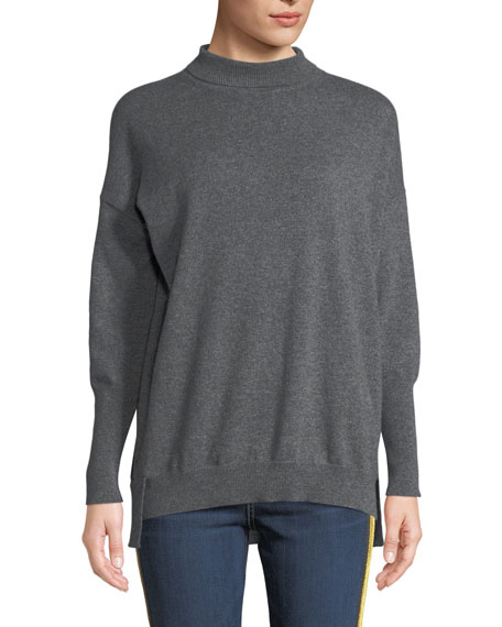 Eternals 12-GG Cashmere Geo-Slit Dropped-Shoulder Turtleneck Sweater