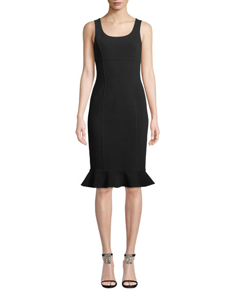 Michael Kors Collection Scoop-Neck Sleeveless Body-con
