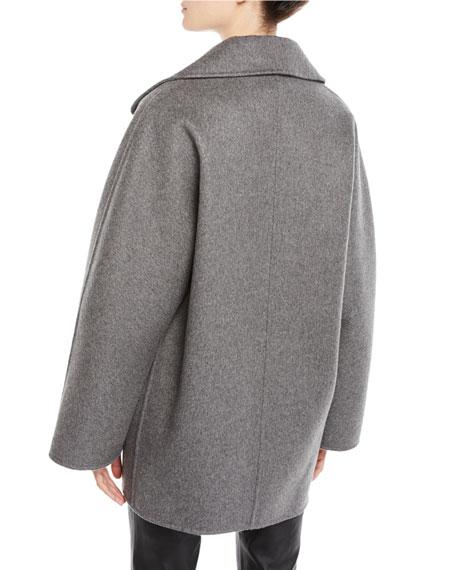 Crystal-Neck Sleeveless Melange Knit Cashmere Shell