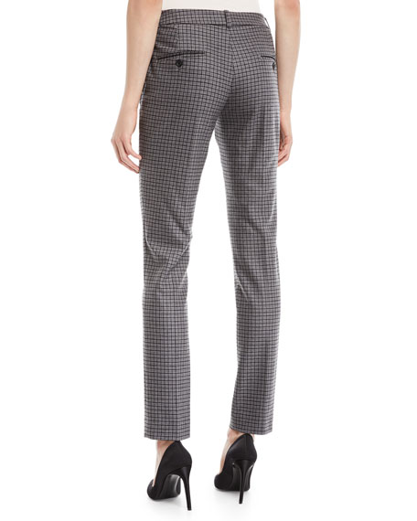 Samantha Small Houndstooth Stretch-Flannel Pants