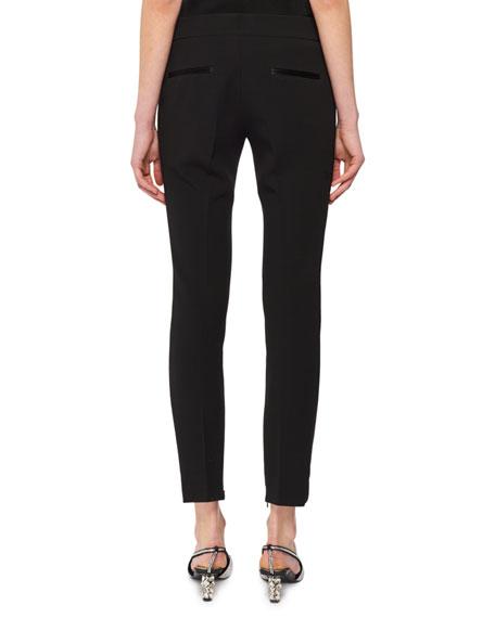 Mid-Rise Wool Skinny Pants w/ Tux Stripe