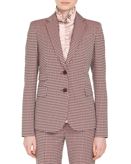 Akris punto Two-Button Houndstooth Jersey Blazer and Matching