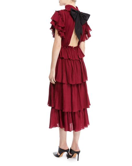 Chants Tiered Ruffle Georgette Dress