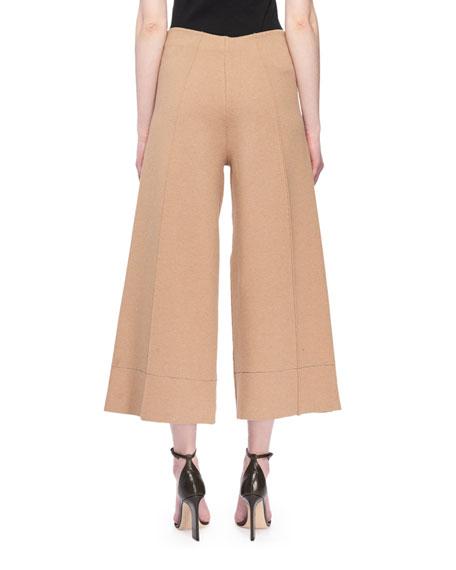 Pull-On Flared Crop Leg Pants w/ Tux Stripe