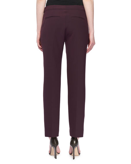Cropped Slim Straight-Leg Pants