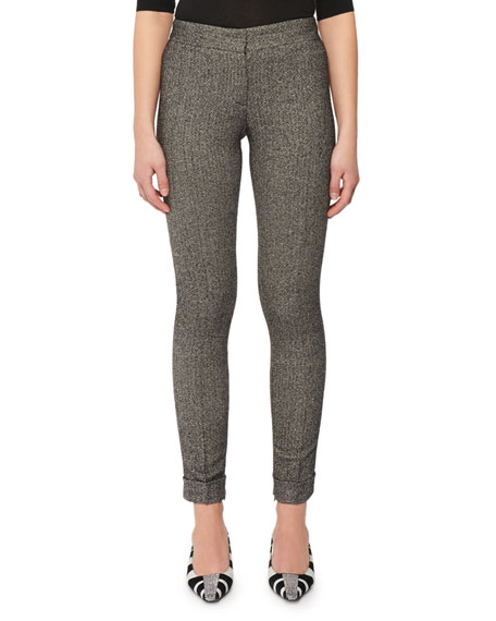 Flat-Front Skinny Tweed Leggings