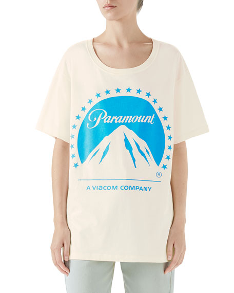 Gucci Paramount Short-Sleeve Crewneck Cotton Jersey T-Shirt