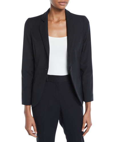 One-Button Basic Cady Jacket