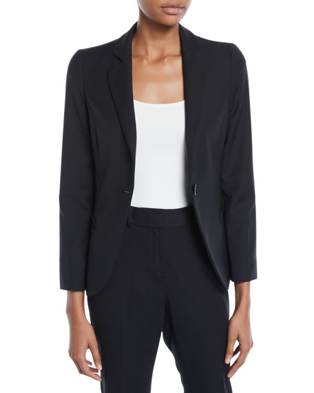 Emporio Armani One-Button Basic Cady Jacket